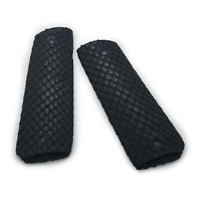 Exotic 1911 Grips For Kimber / Colt / ROCK ISLAND Frames Real Python Snake Black