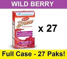 Nestle BOOST Breeze Nutritional Supplement Wild Berry 8oz Drink - 27 Tetra Briks