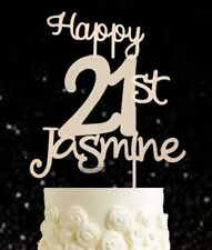 Personalised 21st metallic cake topper birthday 18 21 30 40 50 60 70 80 90 10 16