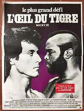 Affiche ROCKY III L'Oeil du Tigre SYLVESTER STALLONE Mr. T Boxing BOXE 40x60cm *