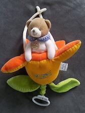 Doudou et compagnie ours musical boite musique jaune vert orange p'tit doux