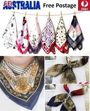 Women Silk Satin Square Scarf Ladies Winter Professional Handbag Scarf 50x50cm