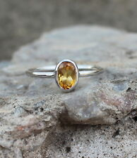 NATURAL YELLOW CITRINE 925 STERLING SILVER OVAL CUT RING JEWELRY SIZE US 3 - 13