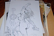 Shelby Robertson POW Pin-up Splash Page Original Comic Book Art Bad Girl Sale