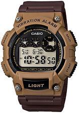 Orologio Casio W-735H-5AVDF VIBRATION ALLARM ILLUMINATOR MARRONE WR 100 CHRONO