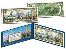 WORLD TRADE CENTER 9/11 Skyline COLORIZED Legal Tender $2 U.S. Bill NEVER FORGET