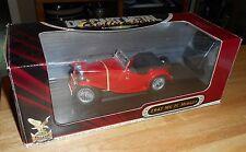 ROAD SIGNATURE 1:18 1947 MG TC MIDGET RED #92468 IN ORIGINAL BOX