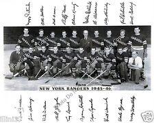 1945-1946 NEW YORK RANGERS  8X10 TEAM PHOTO