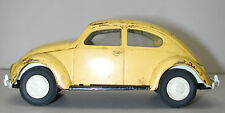 Vintage TONKA 1960 Yellow Steel VW Bug Toy Car