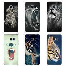 For Samsung Galaxy Note A5 A7 2016 Case Soft TPU Phone Back Cover Animals Gifts