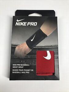 Nike Red Pro Baseball Wrist Wrap NIB