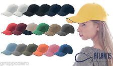 Cappello ATLANTIS berretto SPORT SANDWICH baseball cotone CAPS HATS in 19 COLORI