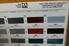 1983 Corporate PPG Paint Color Chips, AMC Renault Chrysler, Ford +, Free US Ship
