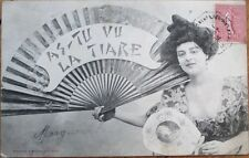 Western Woman in Geisha Costume w/Fan - 1904 Bergeret Postcard
