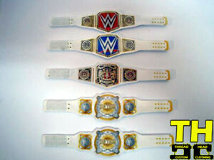 5 pack - Raw, Smackdown, UK Women's Tag Team Titles Wrestling Figure Belts WWE