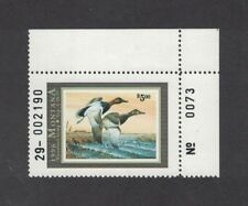 Mt11 - Montana State Duck Stamp. Plate Numbered Single. Mnh. Og.