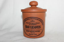Henry Watson Pottery The Original Suffolk Canister for Bay Leaves in Terracotta