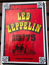 More details for led zeppelin earl's court 75 - official programme from the legendary concerts