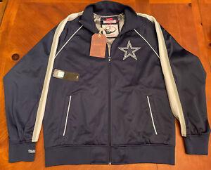 Dallas Cowboys Track Jacket Mitchell & Ness Blue BNWT Sz XL Traditional Fit