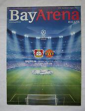 Orig.PRG  Champions League 13/14   BAYER 04 LEVERKUSEN - MANCHESTER UNITED ! TOP