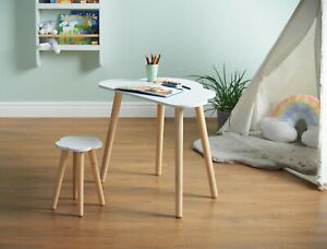 Haus Projekt Children's Cloud Desk and Stool Set (age 4-8), Kids Wooden Table