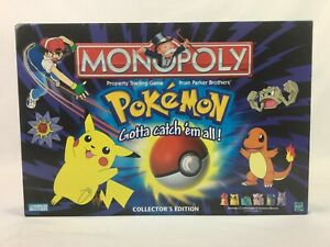 Monopoly - Pokemon Collectors Edition - Parker Brothers / Nintendo - 2000