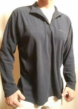 COLUMBIA SPORTSWEAR navy blue 1/4 ZIP Light Jacket FLEECE Mens size XL EXCELLENT