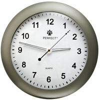 PERFECT Wall Clock With Light & Sound Activated Backlight GRAPHITE