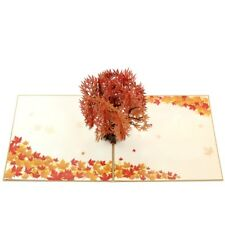 3D Pop Up Card Maple Tree Greeting Gift Holiday Anniversary Greeting Cards