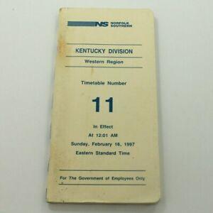 Norfolk Southern Railroad 1997 ETT Timetable NS Western Region Kentucky RR TT