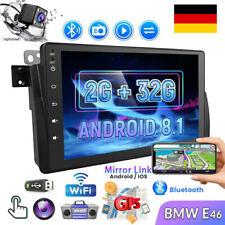 "8"" Android 8.1 AUTORADIO Mit GPS Navi WiFi Blurtooth MP5 Video Für BMW E46"