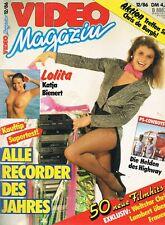 VIDEO MAGAZIN #12 1986 Vintage GERMAN MOVIE MAGAZINE cover KATJA BIENERT