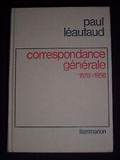 Correspondance générale 1878-1956