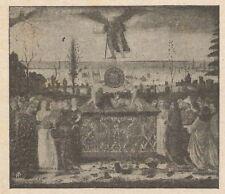 C2256 Botticelli - Trionfo del Tempo - Stampa d'epoca - 1917 vintage print