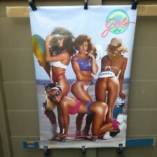 VINTAGE CALIFORNIA GIRLS WITH SKATEBOARDS POSTER