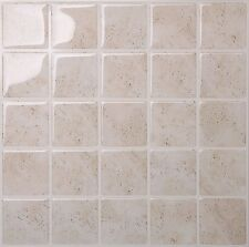 Tic Tac Tiles Premium 3D Peel &Stick Wall Tile in MarmoTravertine (10 sheets)
