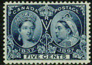 CANADA– 1897– #54 VICTORIA  DIAMOND JUBILEE – F-VF  *