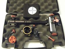 "4"" DAVIS TARGET SIGHT- Single knob-8.5 -black/red knobs-scope .010 green."
