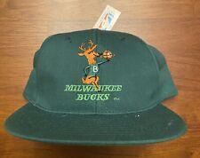 Vintage Milwaukee Bucks Snapback Hat 80's/90's *New with Tags* Deer NBA