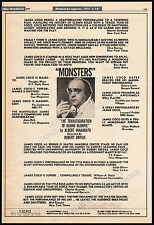 MONSTERS_Transfiguration of Benno Blimpie__Orig. 1977 Trade AD_poster_JAMES COCO