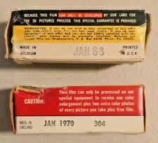 2X Vintage Foil-Sealed Black & White 620 Safety Film Made in Belgium NOS - 2191