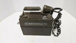 Vintage Motorola Handie-Talkie PT200  Hard Case 2 way VHF