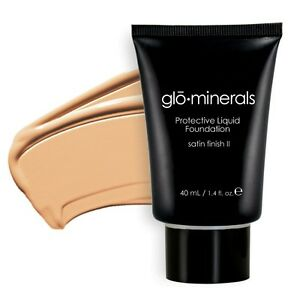 glominerals gloProtective Liquid Foundation Satin  GOLDEN LIGHT 1.4 oz 40 ML