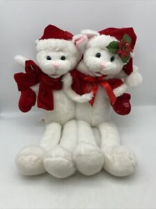 Chantilly Lane Cat Duet Christmas Cats Singing Plush Mr Mrs Claus PBC RARE HTF