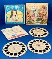 SNOW WHITE and the SEVEN DWARFS View-Master 3 Reel Booklet Complete 1955 B300