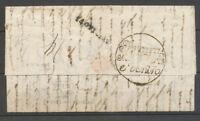 1839 Lettre Ferrare/Netto fuori/e dentro, marque de purification 1ere date X4122