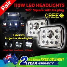 Pair 7X5'' LED Cree Square Headlight H/L/DRL For Wrangler YJ Cherokee XJ Trucks
