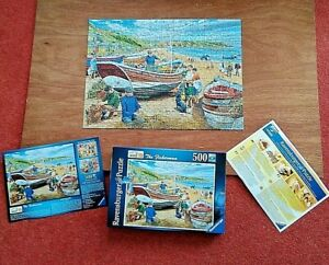 Ravensburger THE FISHERMAN 500 Piece Jigsaw Puzzle - Complete.