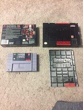 RoboCop Versus The Terminator Rare Complete (Super Nintendo) SNES CIB