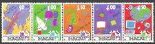 Macau - Telekommunikationssysteme Fünferstreifen postfrisch 1999 Mi.1021-1025